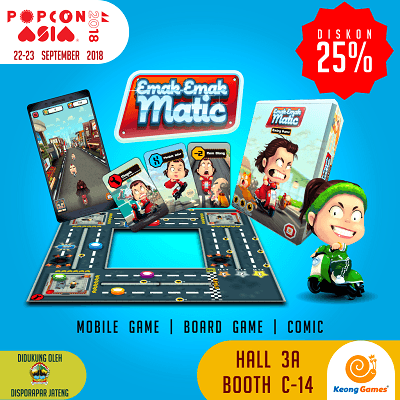 DISKON 25% EMAK MATIC BOARD GAME DI POPCON ASIA 2018!