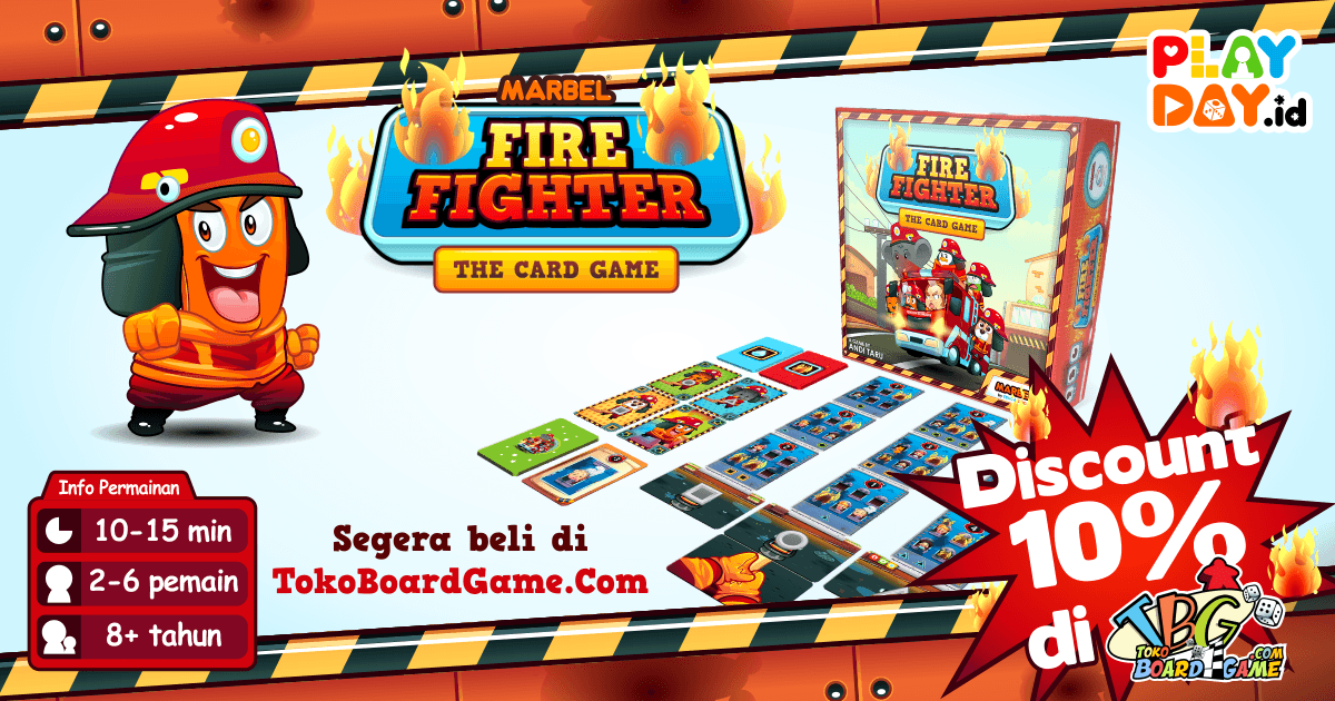 Murah Meriah! Marbel Fire Fighter Board Game Diskon 10% di TokoBoardgame.Com