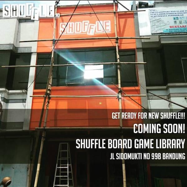 COMING SOON, BOARD GAME CAFE SHUFFLE ID DI JALAN SIDOMUKTI BANDUNG