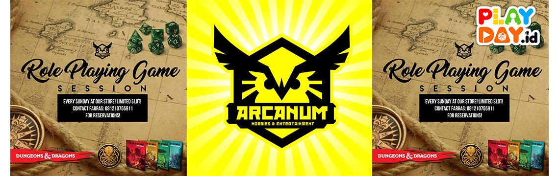 Yuk, Ikutan Arcanum Hobbies Regular Role Playing Game Session setiap Hari Minggu!
