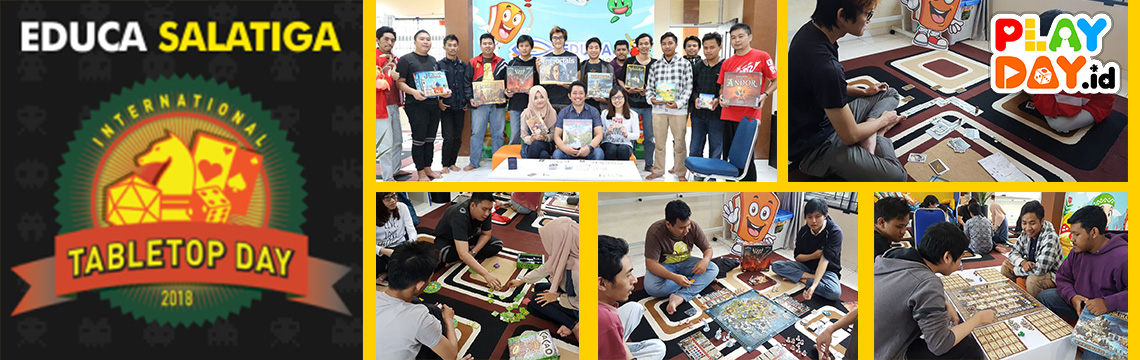 LIPUTAN Keseruan Educa Salatiga International TableTop Day 2018