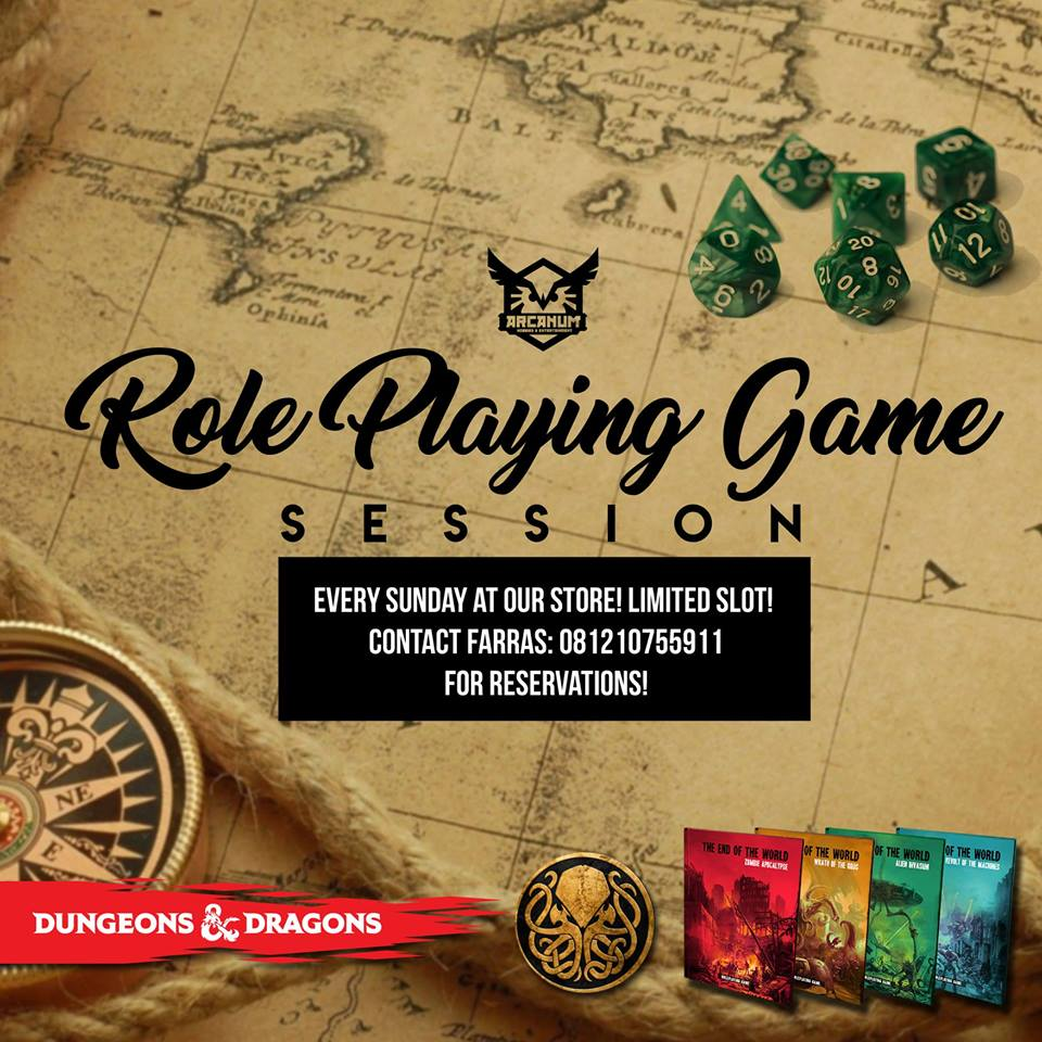 Arcanum Hobbies Regular Role Playing Game Session