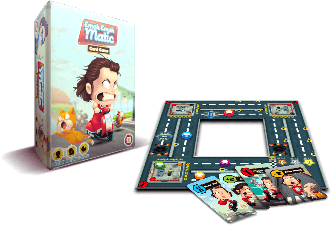 Gambar : Komponen board game Emak-Emak Matic