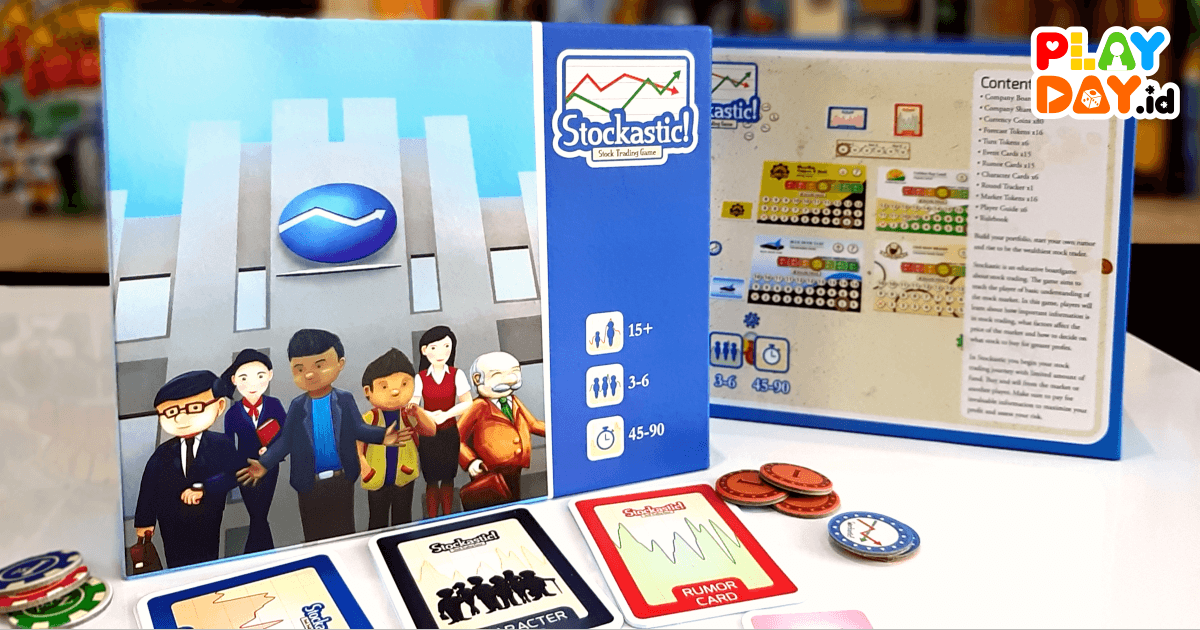 Foto : Board game Stockastic! Stock Trading Game