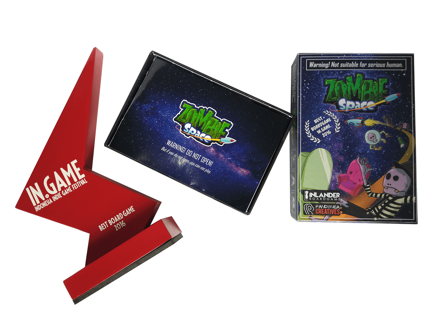 Zombie Space Best Board Game IN.GAME Award 2016