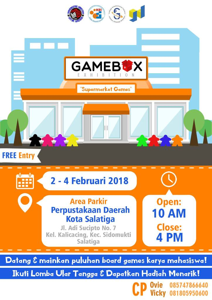Poster Acara GameBox Exhibition #2